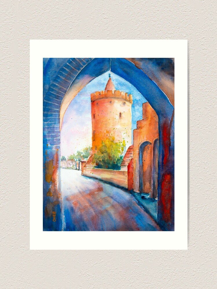 Alternate view of Mittenwalde, Berliner Tor & Powder Tower Art Print