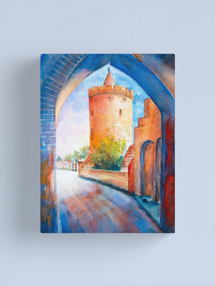 Alternate view of Mittenwalde, Berliner Tor & Powder Tower Canvas Print