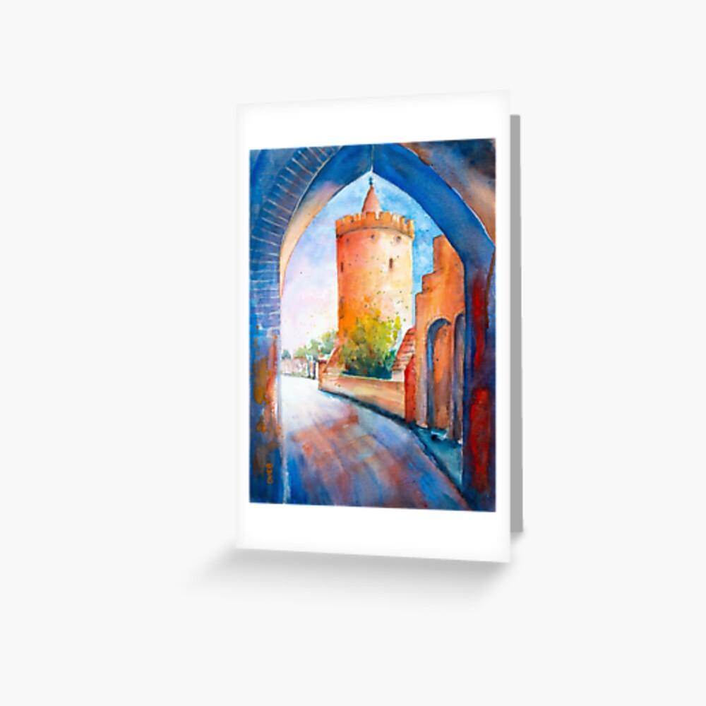 Mittenwalde, Berliner Tor & Powder Tower Greeting Card