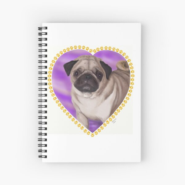 Pug Portrait Spiral Notebook