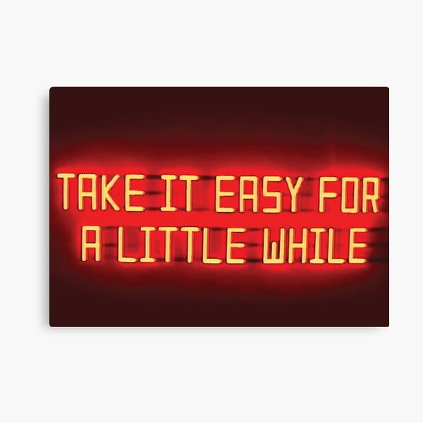 Arctic Monkeys - Take it Easy For a Little While Canvas Print
