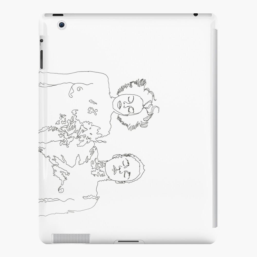 closed eyes transparent iPad Case & Skin