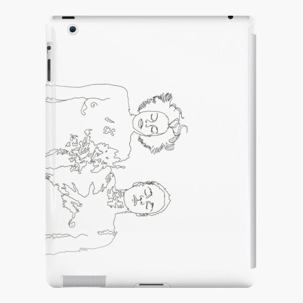 closed eyes transparent iPad Snap Case