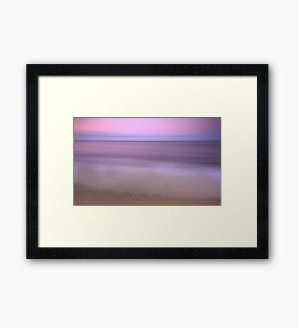 Dusk - sunset at Ella Bay Framed Print