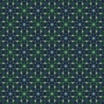 Kaleidoscopic pattern of blue, green colors. by marinaklykva