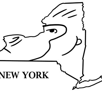 A funny map of New York 2 by funnymaps