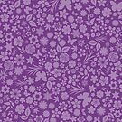Flower & Butterfly Pattern - Purple by chayground