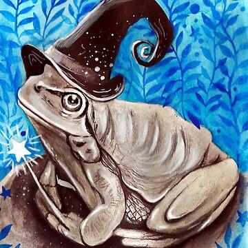 Halloween Witch Frog( Inktober 13 ) by artbysavi