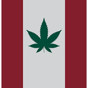Canadian Flag Cannabis Leaf by TheFlying6