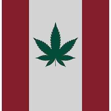 Canadian Flag Cannabis Leaf by TheFlying6