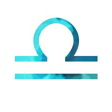 blue libra symbol by lolosenese