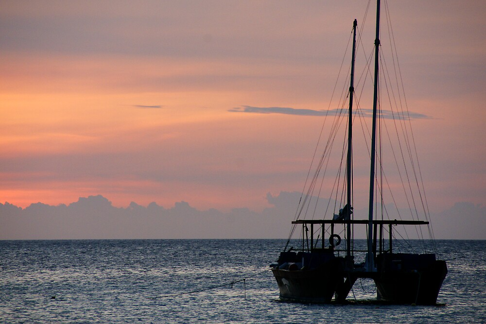 The Sunset & The Sailboat by AlphaMale912