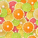 Citrus fruits background by 6hands