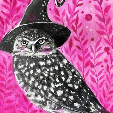 Halloween Witch Owl ( Inktober 15 ) by artbysavi