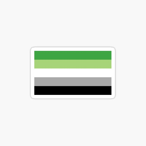Aromantic flag Sticker
