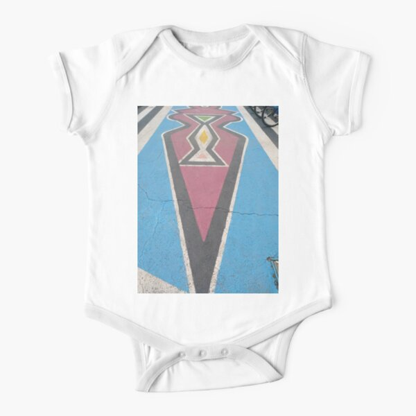 architecture, window, city, apartment, office, modern, house, business, sky, facade, outdoors, balcony, vertical Short Sleeve Baby One-Piece