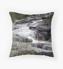 Maligne River Throw Pillow