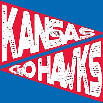 KANSAS GO HAWKS by heckyesco