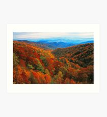 AUTUMN VALLEY Art Print