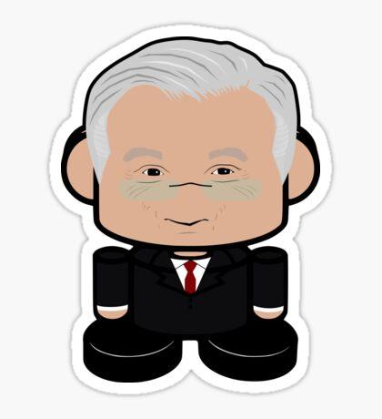 Mr. Bogard POLITICO'BOT Toy Robot Sticker