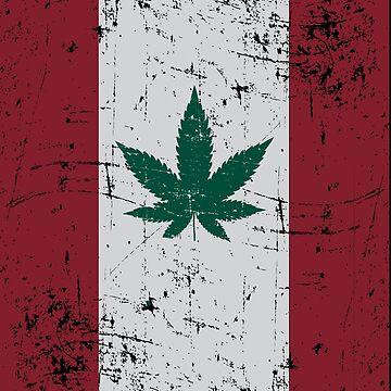 Cannabis Flag Canada by TheFlying6