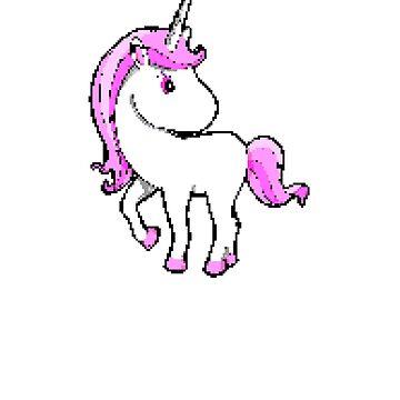 Pink Unicorn | 8 Bit Pixel Art by ctaylorscs