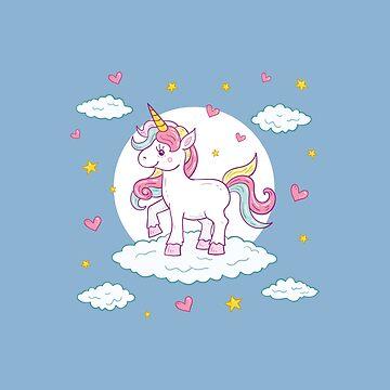 Adorable Cute Baby Unicorn by StedeBonnet