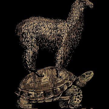 Lama turtle by GeschenkIdee
