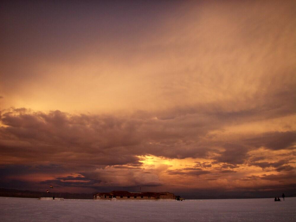 Sunset on the Salt Flats by Vonnstar