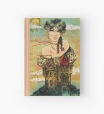 Come live into my heart...- digital illustration  Hardcover Journal