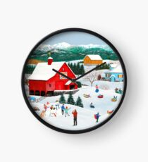 Winter Memories Clock