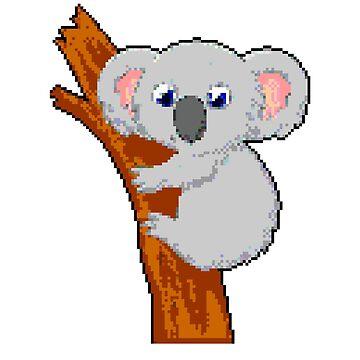 Koala | 8 Bit Pixel Art by ctaylorscs