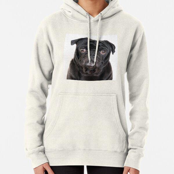 Black Pug Pullover Hoodie