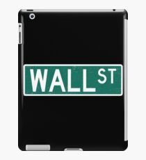 Wall Street Street Sign  iPad Case/Skin