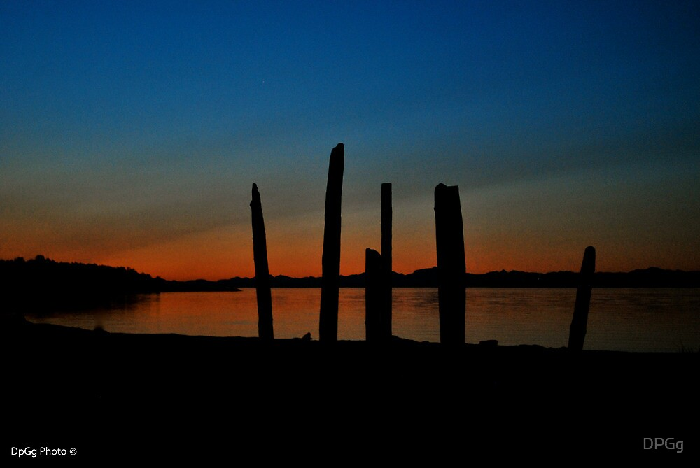 Driftwood SunSet- Comox, Vancouver Island by DPGg