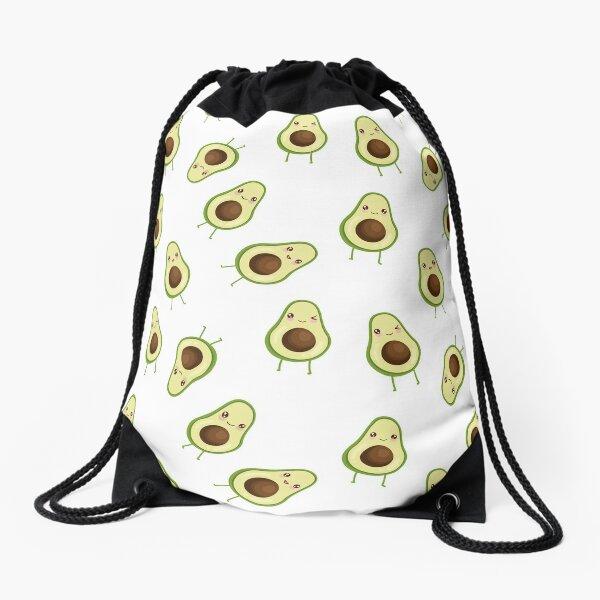 Kawaii Avocado Drawstring Bag