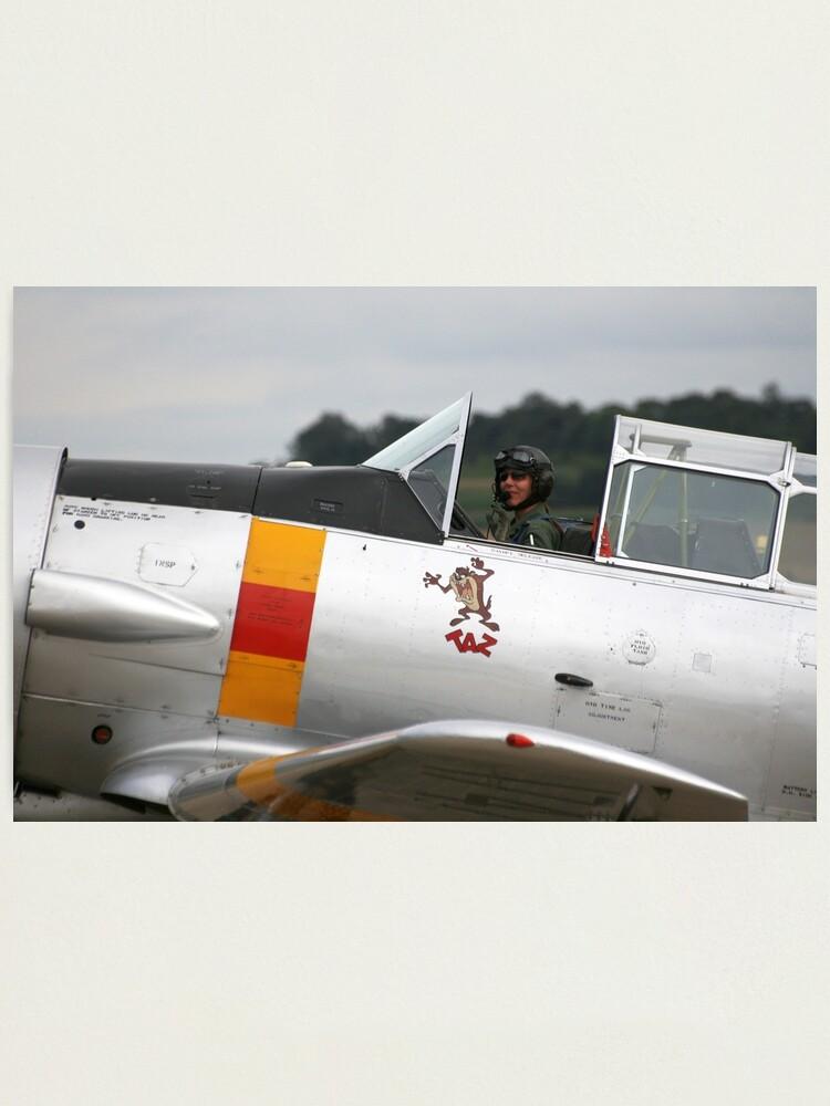 Alternate view of T-6 Harvard Pilot Photographic Print