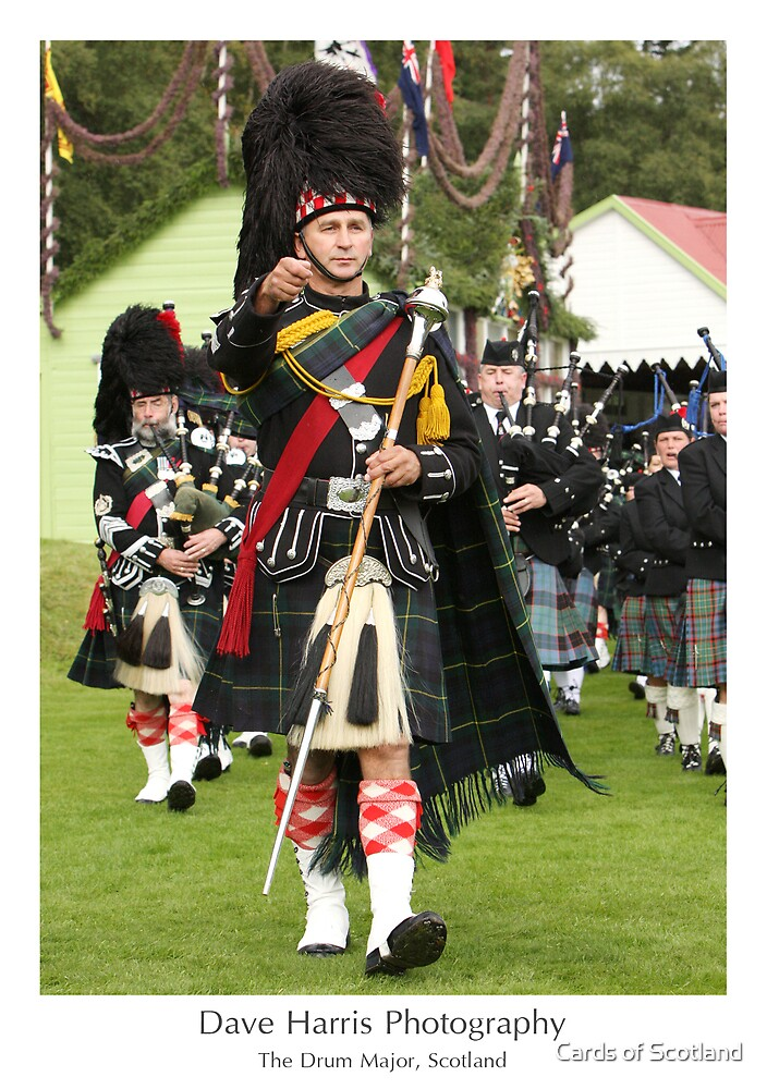 The Drum Major, Scotland by Cards of Scotland