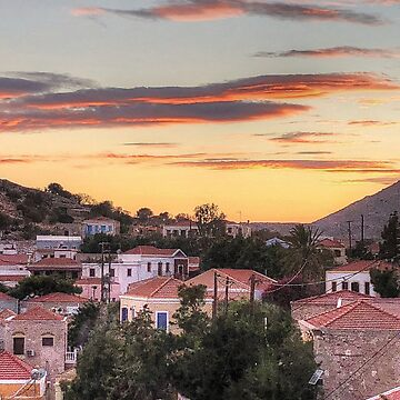 Sunset over Nimborio by tomg