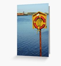 Life Buoy Greeting Card