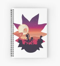 Rick and Morty Run! Spiral Notebook
