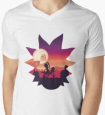 Rick and Morty Run! Men's V-Neck T-Shirt