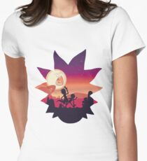 Rick and Morty Run! Women's Fitted T-Shirt
