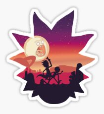 Rick and Morty Run! Sticker