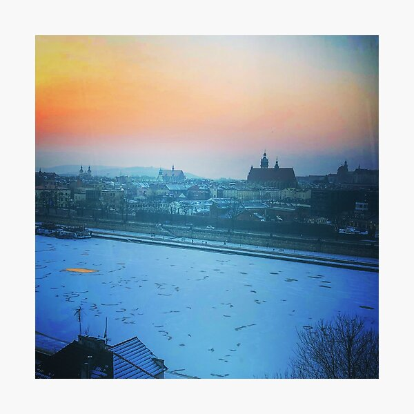 Krakow Sunset Photographic Print