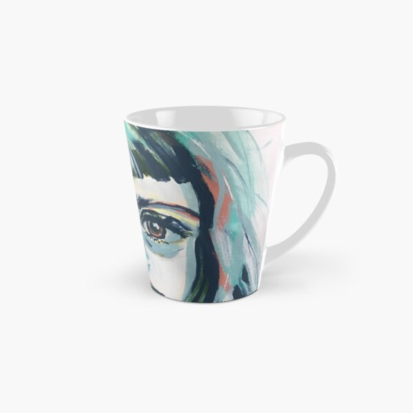 Mia - abstract painted portrait of a thinker #1 Tall Mug