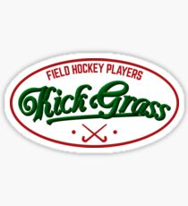 Field Hockey Players Kickgrass Sticker
