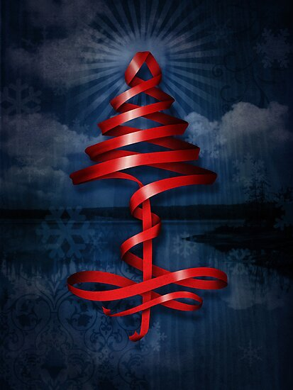 Christmas tree ribbon by fischer