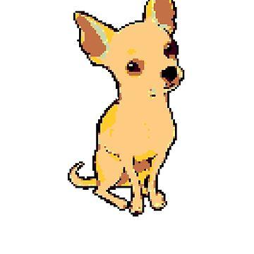 Chihuahua | 8 Bit Pixel Art  by ctaylorscs