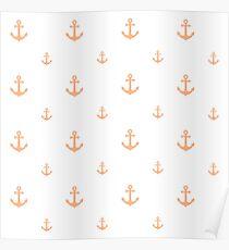 Peach Anchors Poster